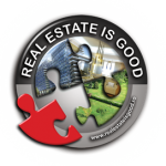 """Logo """"Real estate is good"""" campaign"""